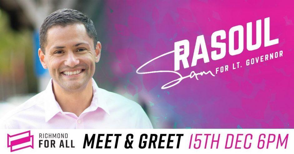 Meet and Greet with Sam Rasoul