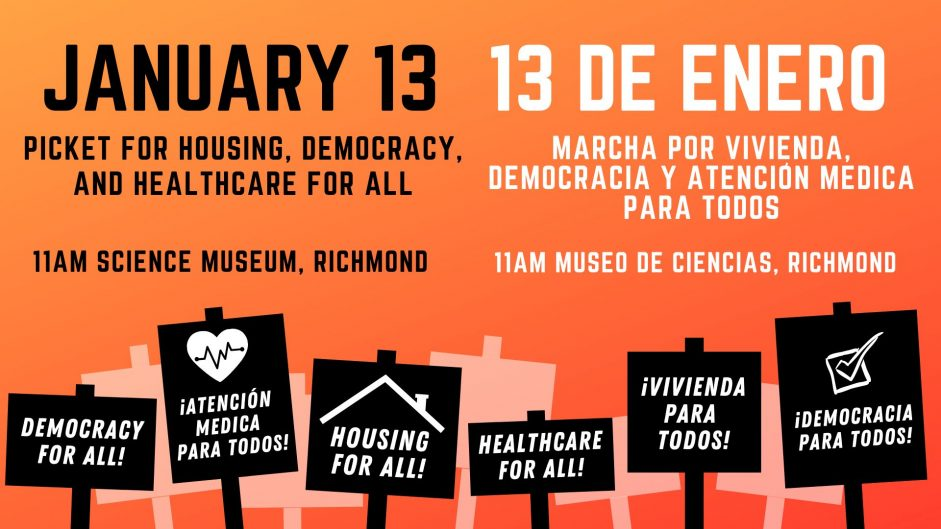 Picket for Housing, Democracy, and Healthcare for All