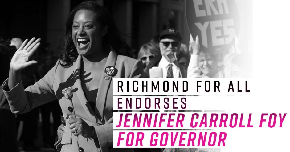 Vote your hopes, not your fears. Vote Jennifer Carroll Foy for Governor.